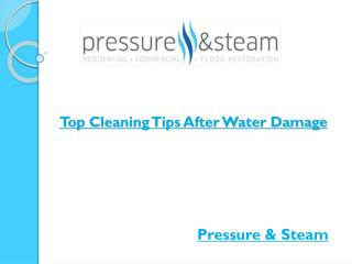 Top Cleaning Tips After Water Damage
