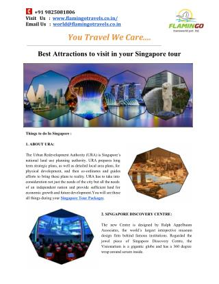 Best Attractions To Visit In Your Singapore Tour