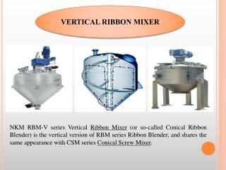 Vertical Ribbon Mixer