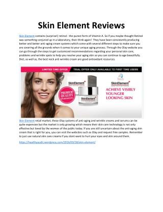 Skin Element Reviews - Take Trial For Best Beauty