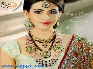 Get Online Semi Precious Beads Necklace, Pendant Set at Styyo.com
