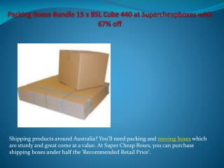 Packing Boxes Bundle 15 x 85L Cube 440 at Supercheapboxes with 67% off