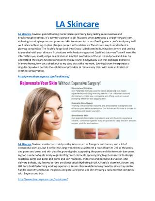 LA Skincare Best Awesome Anti Ageing Looks Perfect
