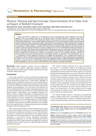 Physical, Thermal and Spectroscopic Characterization of m-Toluic Acid