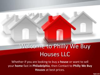 Philly We Buy Houses LLC