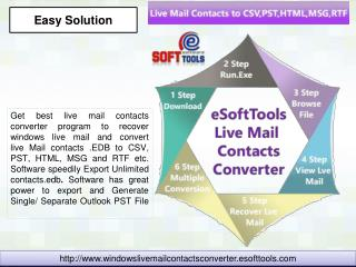 Live Mail Contacts to CSV