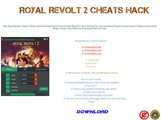 Royal Revolt 2 Cheats Hack Android iOS Windows Phone
