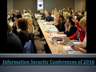Information Security Conferences of 2016