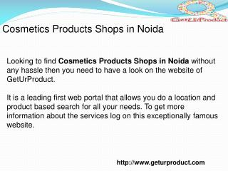 Cosmetics Products Shops In Noida