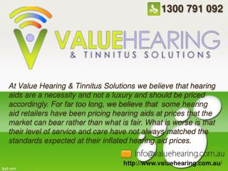 Value Hearing and Tinnitus Solution