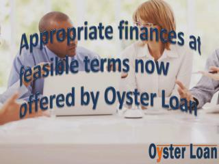 Oyster Loan – multiple loan alternatives at feasible terms