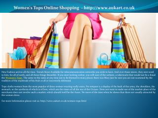 Women's Tops Online Shopping - http://www.aukart.co.uk