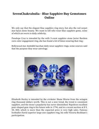 SevenChakraIndia - Blue Sapphire Buy Gemstones Online