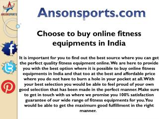 Choose to buy online fitness equipments in India