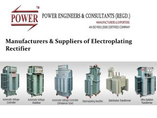 electroplating rectifier Manufacturers in India