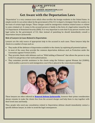 Get Aware with the Deportation Laws