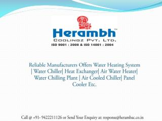 Water Heating System Manufacturers, Suppliers India