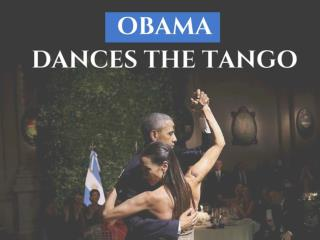 Obama dances the tango