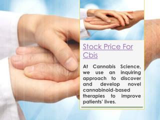 stock price for CBIS