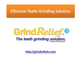 prevents teeth clenching grinding