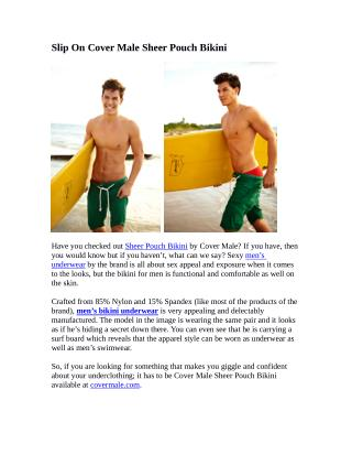 Slip On Cover Male Sheer Pouch Bikini
