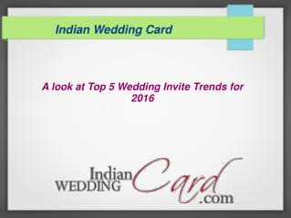 Top 5 wedding invitation trends for 2016
