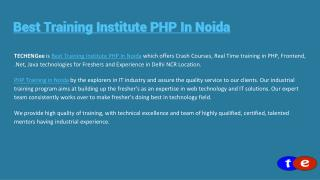 Best PHP Training in DELHI NCR