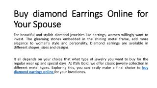 Buy diamond earrings online , Buy diamond earrings online in UK