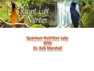 Quantum Nutrition Labs with Dr. Bob Marshall