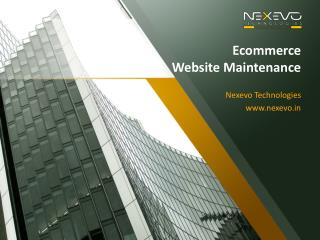 ECommerce Website Maintenance Company Bangalore
