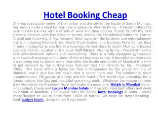 Get lowest rates for online hotel bookings in India