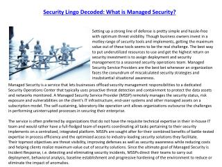 Security Lingo Decoded: What is Managed Security?