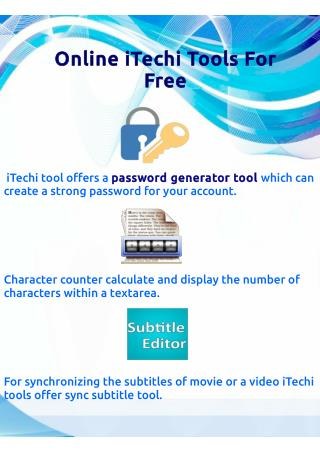 Online iTechi Tools For Free