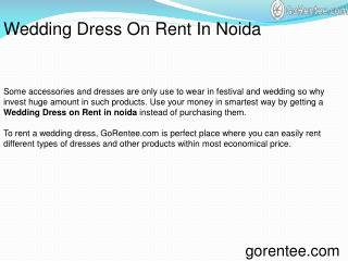 Wedding Dress On Rent In Noida