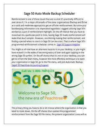 Sage 50 Auto Mode Backup Scheduler