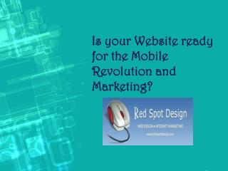 Is your Website ready for the Mobile Revolution and Marketing?