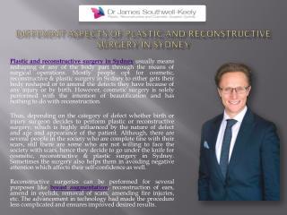 Plastic Reconstructive Surgery Sydney