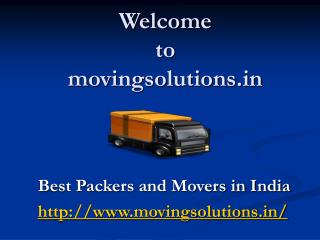 Movingsolutions in-Best Packers and Movers in India