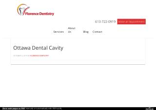 Ottawa Dental Cavity Info- Ottawa Downtown Dentist