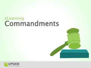 eLearning Commandments