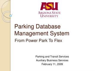 Parking Database Management System