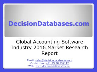 Accounting Software Market Report - Global Industry Analysis