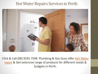 Hot Water Repairs perth