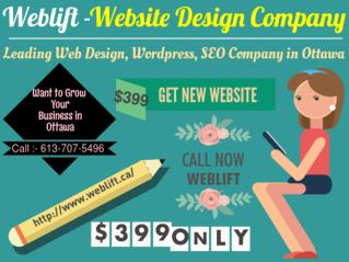Website design | Wordpress | E-commerce | SEO Comapny Ottawa - Weblift