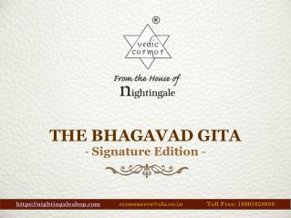 Bhagavad Gita Book with Box