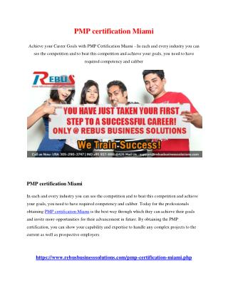 PMP certification Miami