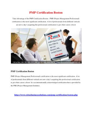 PMP Certification Boston