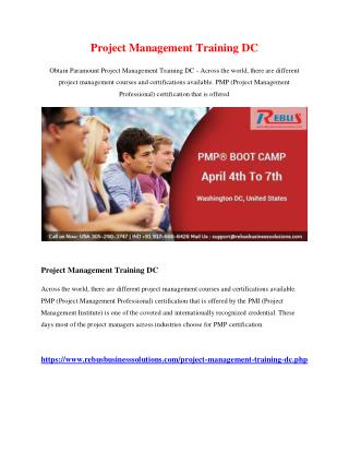 Project Management Training DC