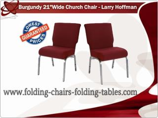 Burgundy 21 Wide Church Chair - Larry Hoffman