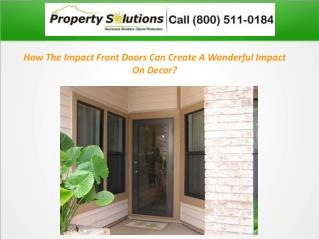 How The Impact Front Doors Can Create A Wonderful Impact On Decor?